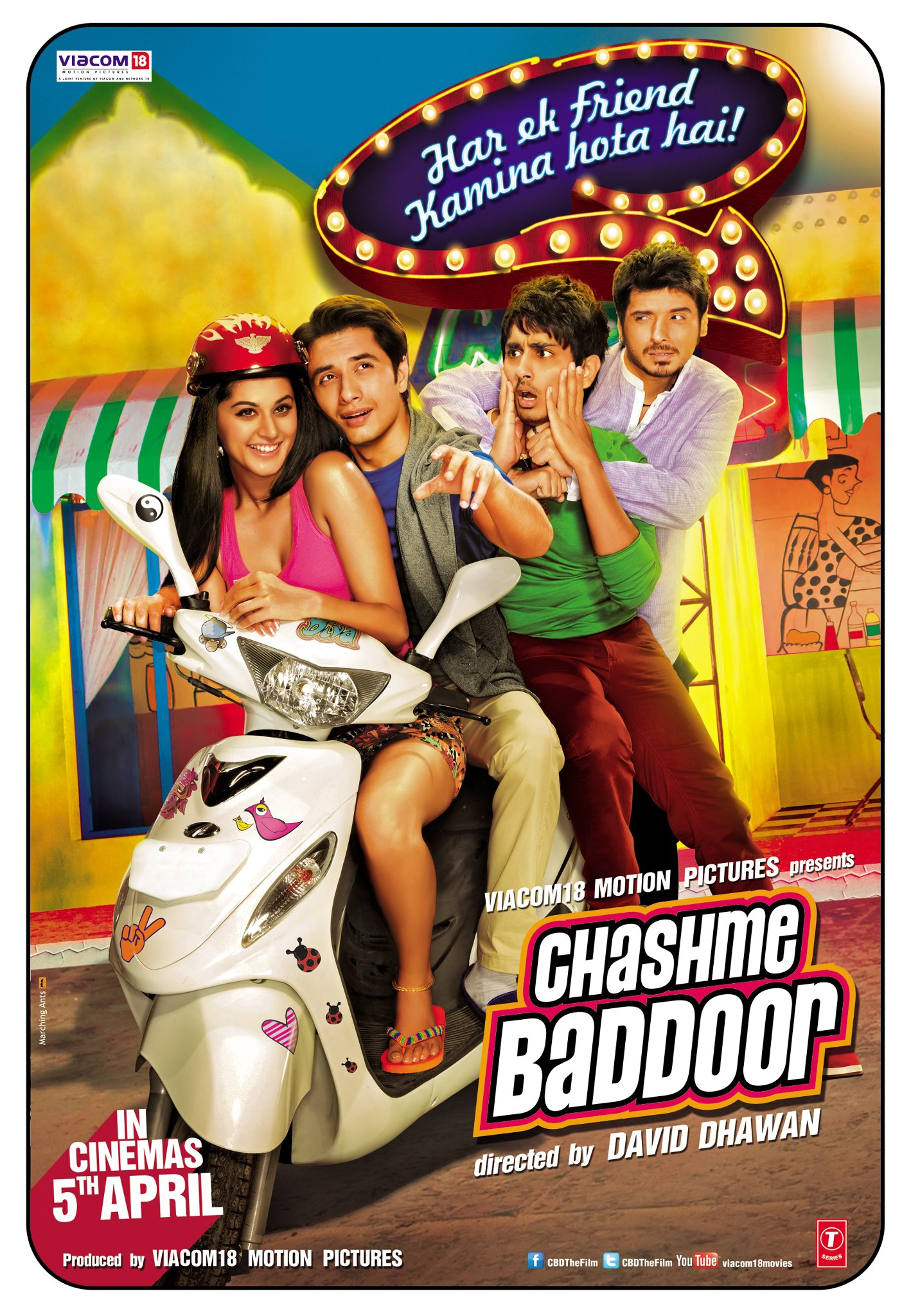 Chashme Baddoor - Movie Poster #1 (Original)