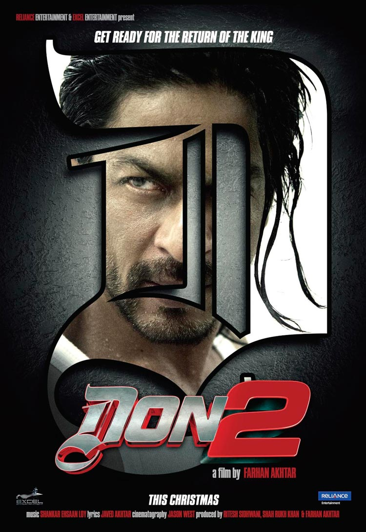 Don 2 - Movie Poster #1 (Original)