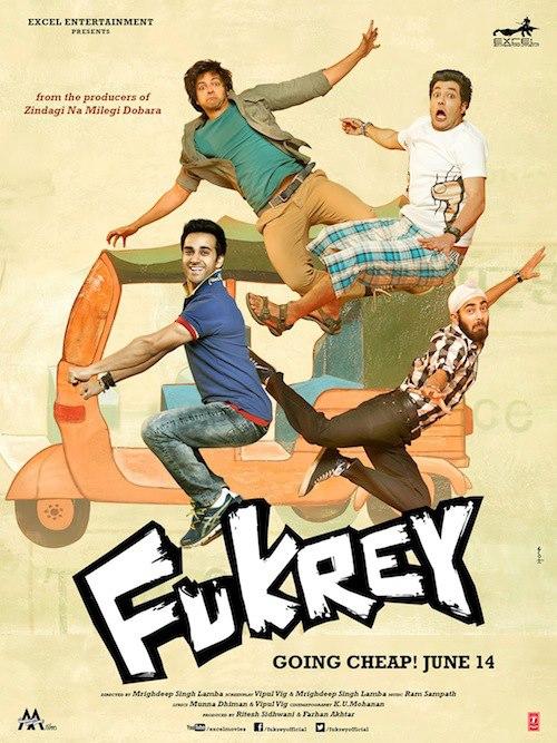 Fukrey - Movie Poster #3 (Original)