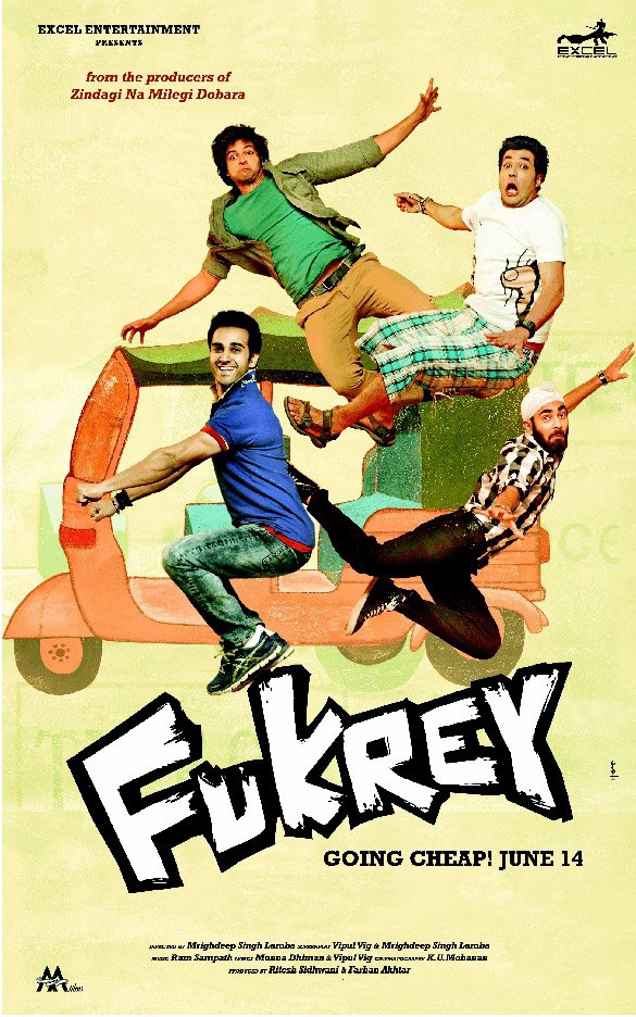 Fukrey - Movie Poster #5 (Original)