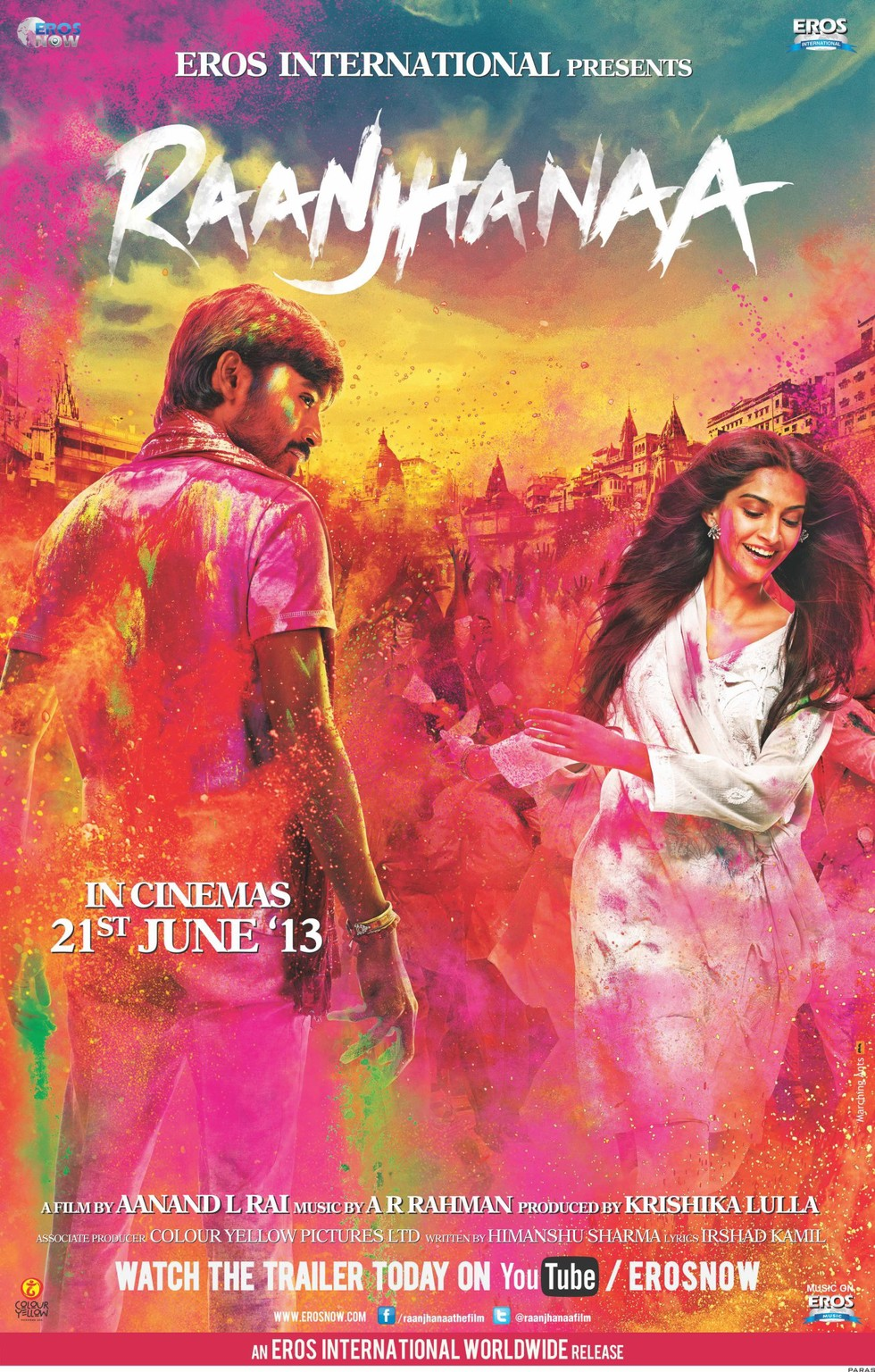 Raanjhanaa - Movie Poster #1 (Large)