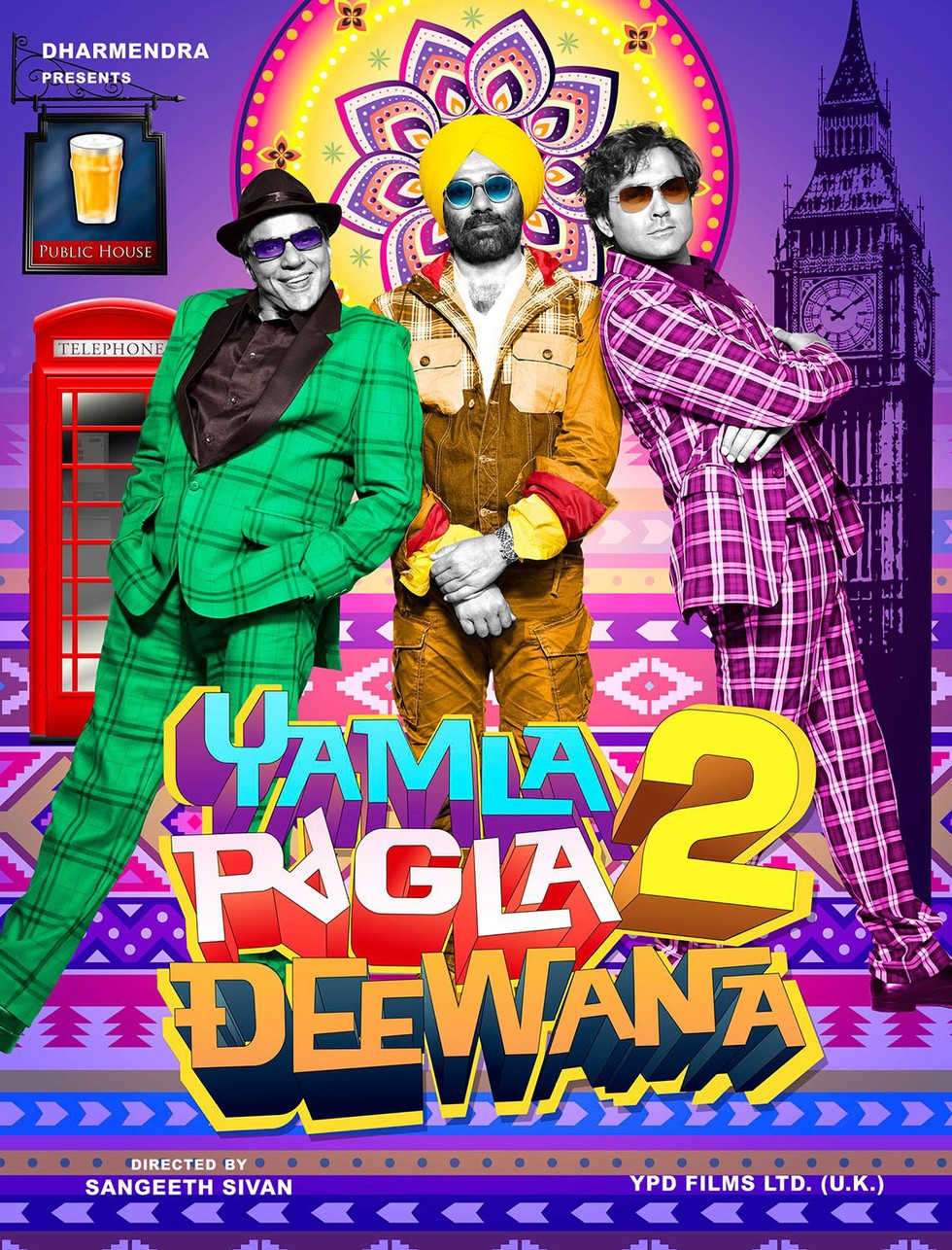 Yamla Pagla Deewana 2 - Movie Poster #2 (Large)