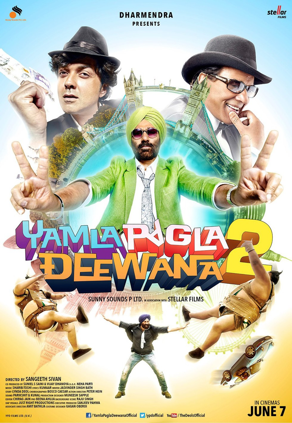 Yamla Pagla Deewana 2 - Movie Poster #9 (Large)
