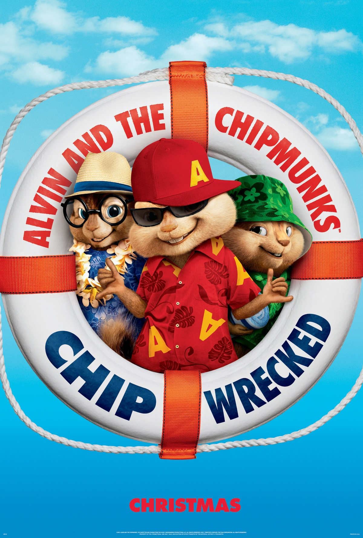 Alvin and the Chipmunks: Chipwrecked! - Movie Poster #1 (Original)