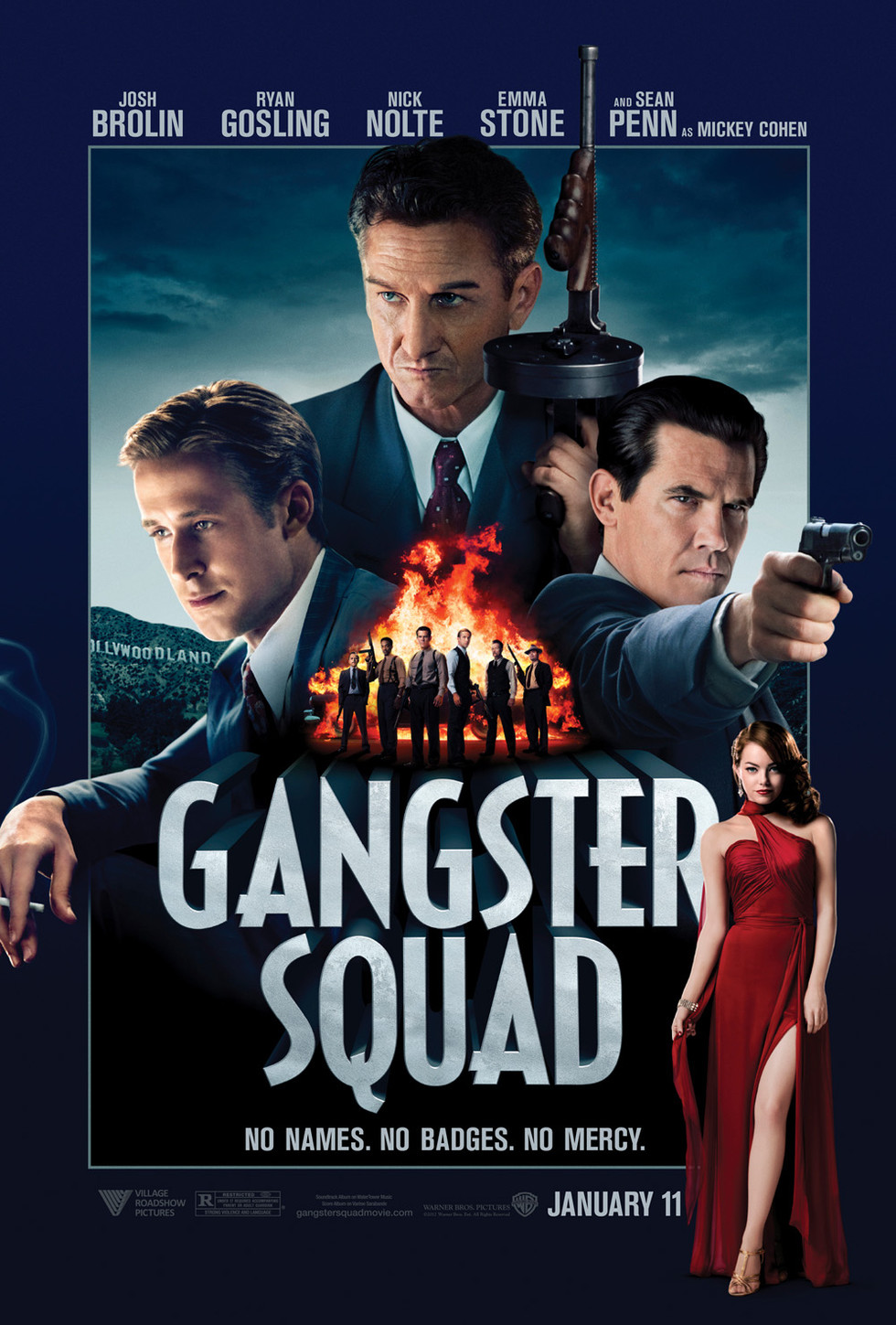 Gangster Squad - Movie Poster #1 (Large)