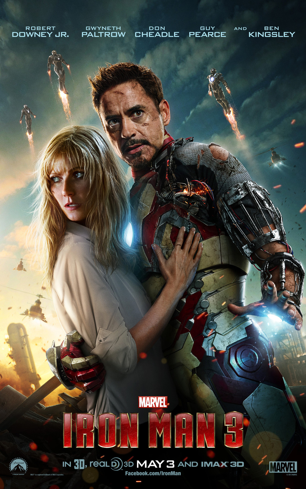 Iron Man 3 - Movie Poster #1 (Large)