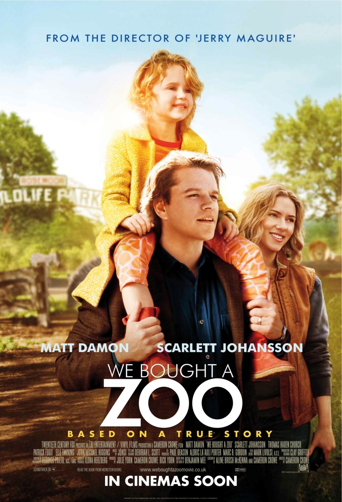 We Bought a Zoo - Movie Poster #1 (Original)
