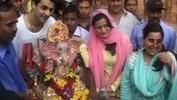 Ameesha bids good bye to her Ganpati