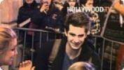 Andrew Garfield Signs Autographs after 'Death of a Salesman' Performance