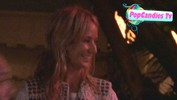 Lady Victoria Hervey meets the Paparazzi while departing Chateau Marmont