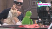Kermit & Miss Piggy Filming on set of The Muppets Again in Hollywood