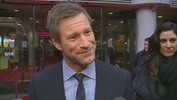 Aaron Eckhart talks playing US President on set and at home