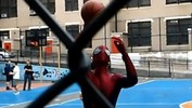 Spider-Man Shootin' Hoops With Kids -- Is It Andrew Garfield?