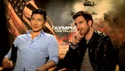 'Olympus Has Fallen' Dylan McDermott and Rick Yune on mustaches