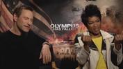 'Olympus Has Fallen' Asleep Aaron Eckhart and Angela Bassett Interview (Snoozer Warning)